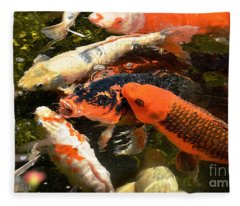 Cozy Koi Fleece Blanket