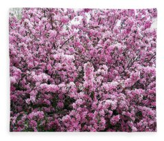 Crab Apple Tree Fleece Blanket
