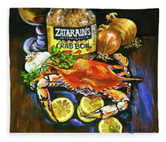 Crab Fixin's Fleece Blanket