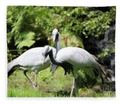 Cranes Fleece Blanket