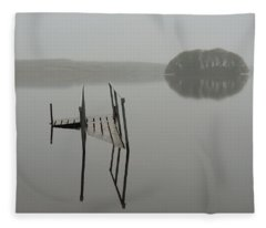Crannog At Lake Knockalough Fleece Blanket