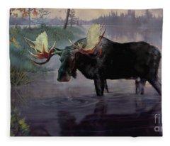 Craven Moose Fleece Blanket