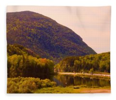 Crawford Notch Homage To Thomas Cole Fleece Blanket