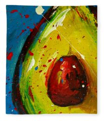 Crazy Avocado 4 - Modern Art Fleece Blanket