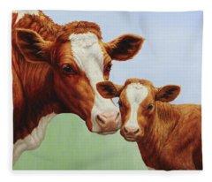 Cream And Sugar Fleece Blanket