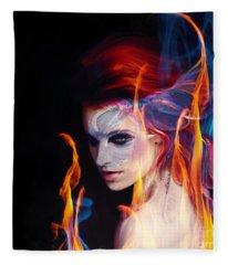 Creation Fire And Flow Fleece Blanket