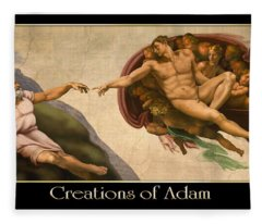 Creations Of Adam Fleece Blanket