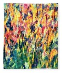 Crescendo Of Spring Abstract Fleece Blanket