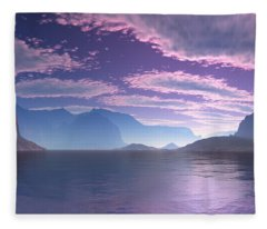 Crescent Bay Alien Landscape Fleece Blanket