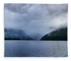 Crescent Lake Fleece Blanket