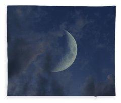 Crescent Moon Fleece Blanket