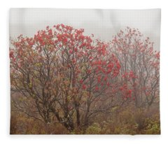 Crimson Fog Fleece Blanket