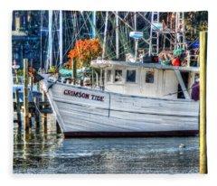 Crimson Tide In Harbor Fleece Blanket