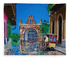 Capilla De Cristo - Old San Juan Fleece Blanket