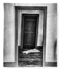 Crooked Door Fleece Blanket