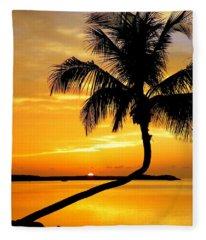 Crooked Palm Fleece Blanket