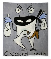 Crooked Tooth Fleece Blanket