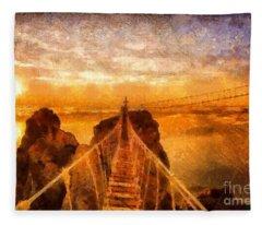 Cross That Bridge Fleece Blanket