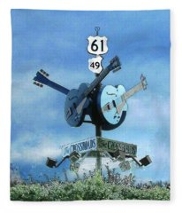 Crossroads In Clarksdale Fleece Blanket