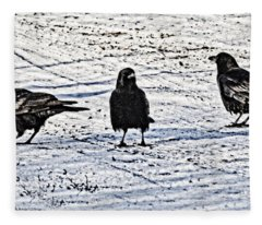 Crow Talk Fleece Blanket