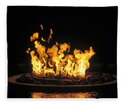 Crown Of Fire Fleece Blanket