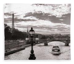 Cruise On The Seine Fleece Blanket