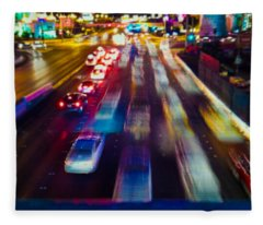 Cruising The Strip Fleece Blanket