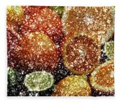 Crystal Grapefruit Fleece Blanket