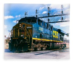 Csx 5292 Warner Street Crossing Fleece Blanket