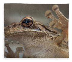 Cuban Treefrog Fleece Blanket
