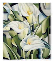 Lilies Fleece Blankets