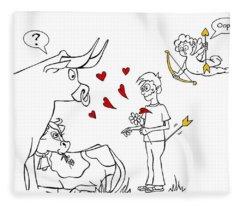 Cupid Valentines Fleece Blanket