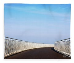Curved Bridge Fleece Blanket