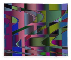 Curves And Trapezoids 3 Fleece Blanket