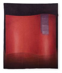 Curving Red Lacquer Screen Fleece Blanket