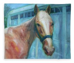 Custom Pet Portrait Painting - Original Artwork -  Horse - Dog - Cat - Bird Fleece Blanket