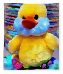 Cute Ducky Fleece Blanket