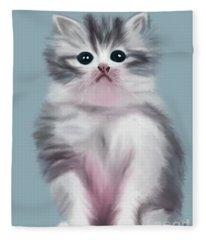 Cute Kitten Fleece Blanket