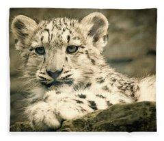 Cute Snow Cub Fleece Blanket