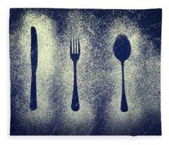 Cutlery Series Fleece Blanket