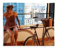 Cycle Introspection Fleece Blanket