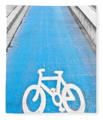 Cycle Path Fleece Blanket