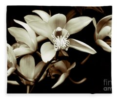 Cymbidium Orchids Fleece Blanket