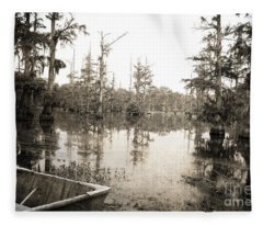 Cypress Swamp Fleece Blanket