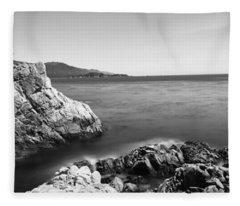 Cypress Tree At The Coast, The Lone Fleece Blanket