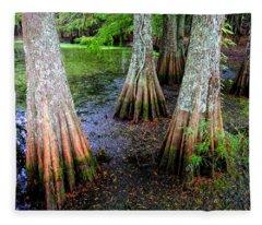 Cypress Waltz Fleece Blanket