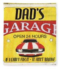 Dad's Garage Fleece Blanket