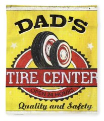 Dad's Tire Center Fleece Blanket