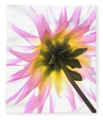 Dahlia Flower Fleece Blanket