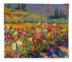 Dahlia Row Fleece Blanket